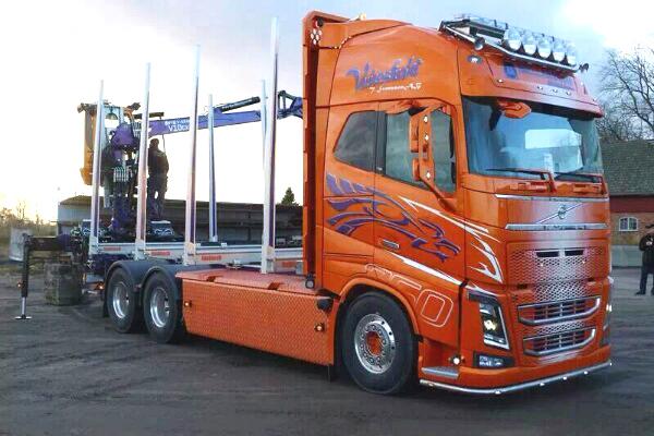 Frontrör LED 60mm Volvo FH4 13+-3965