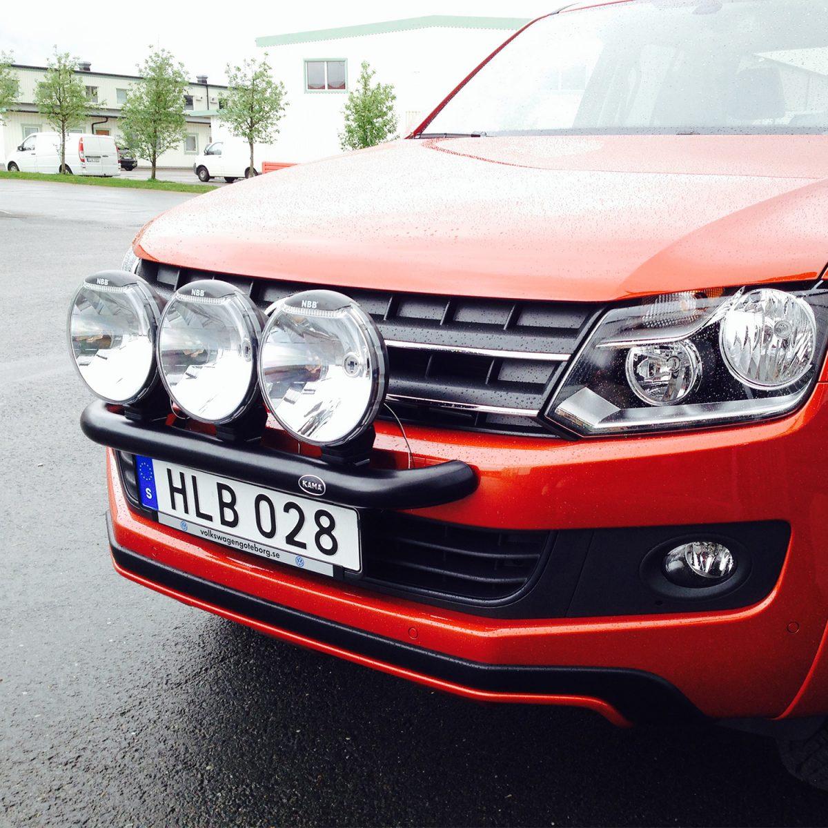 Extraljusbåge Smallbar Svart VW Amarok-0