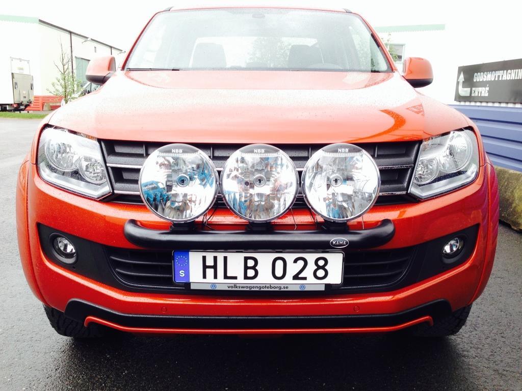 Extraljusbåge Smallbar Svart VW Amarok-4314