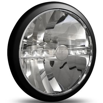 Cibié Super OSCAR LED svart 230mm extraljus-0