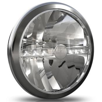 Cibié Super OSCAR LED chrome 230mm extraljus-0