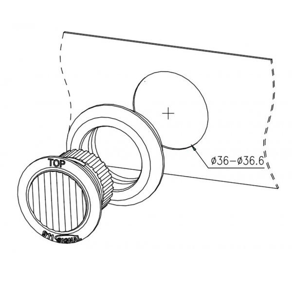 Blixtljus ANT PRO runt LED 2-pack inkl strömbrytare-6538