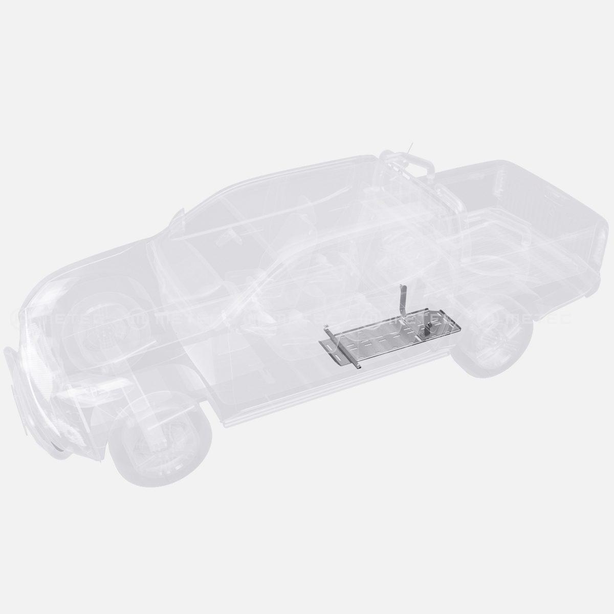 Underkörningskydd bränsletank Toyota Hilux 16+-0