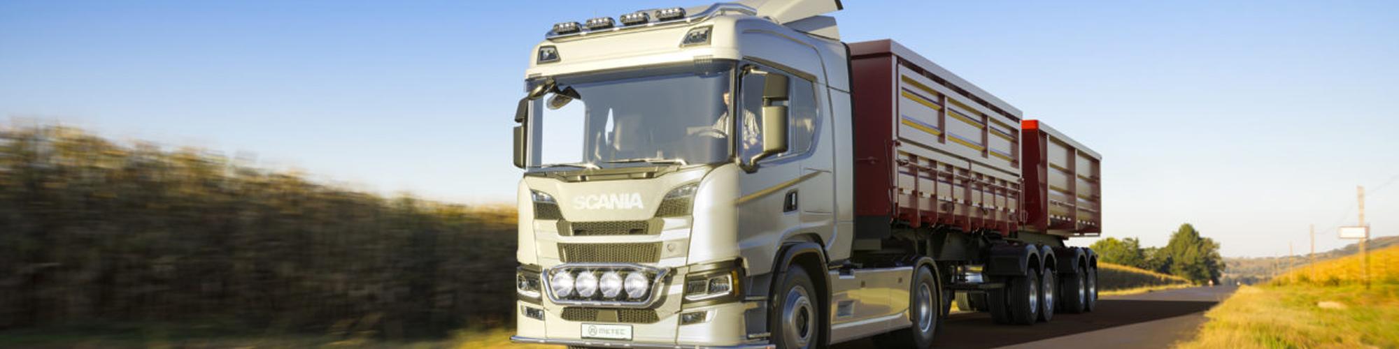 Arbetsbelysningsbåge bak LED Scania 17+ bakgrundsbild